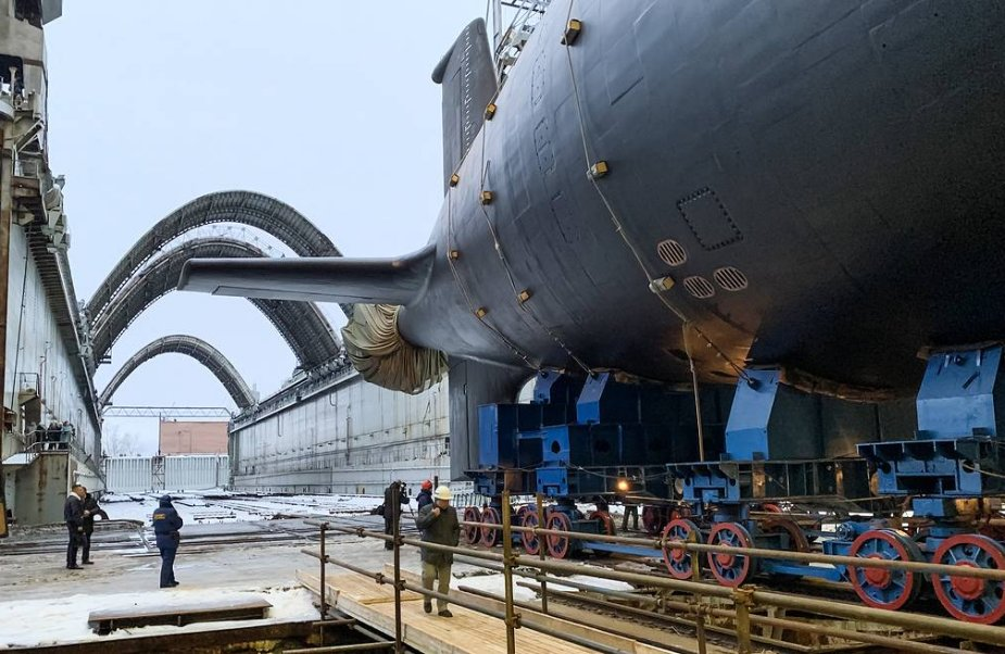 Russia launches Nuclear Powered Yasen M Class Submarine Novosibirsk 925 001