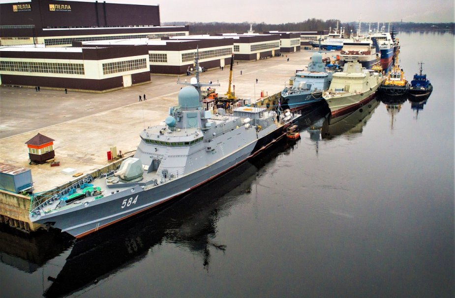 Russias Project 22800 corvette Odintsovo undergoing dock trials 925 001