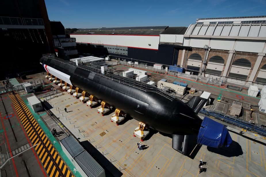 France launches Suffren new nuclear attack submarine of Barracuda class 925 001