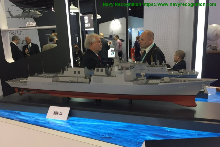 South Korea approved plans for future KDX III Aegis destroyers