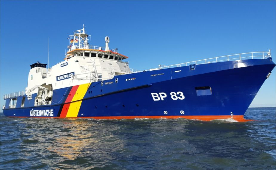 Coast Guards of German Federal Police take delivery of its third Potsdam class Offshore Patrol Vessel BP 83 925 001