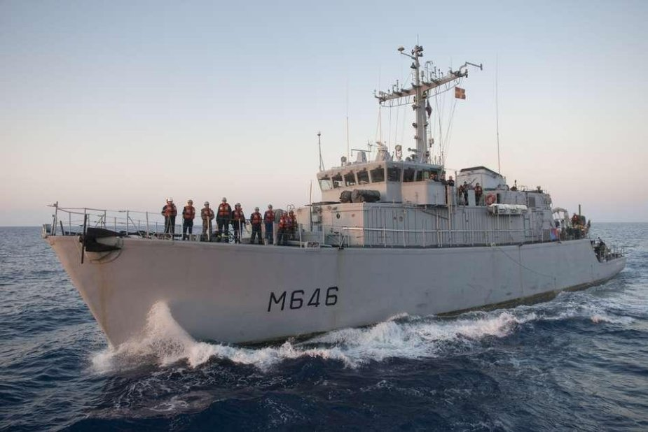 French minehunter Croix du Sud undertakes operations in the Baltic Sea 925 001