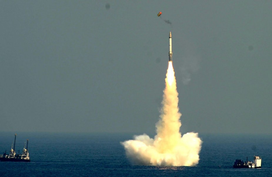 Indias Test Of K 4 SLBM From Pontoon Successful 925 001