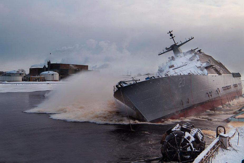 Lockheed martin has launched LCS 23 Freedom class USS Cooperstown combat ship for US Navy 925 001