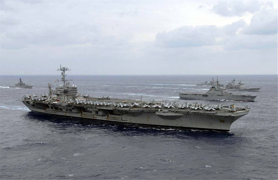 US Navy USS George Washington aircraft carrier achieves significant milestone in her refueling complex overhaul 925 001