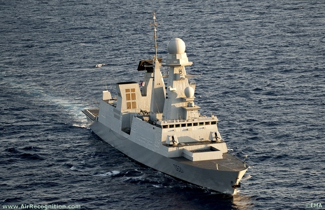 Chevalier Paul Destroyer off the libyan coast.