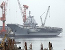 "Within only a month, the development of China's aircraft carrier experienced the official delivery of the ""Liaoning Ship"" to the Navy of the Chinese People's Liberation Army (PLA) and the successful taking-off and landing training of the carrier-borne J-15 fighter nicknamed ""Flying Shark"" on the deck of the aircraft carrier. Western observers feel astonished at the speed of the development of China's aircraft carrier and no longer doubt that China's first aircraft carrier formation will debut in the near future."