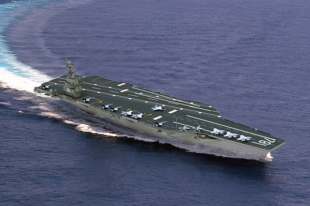 USS Gerald R Ford CVN 78 class aircraft carrier US Navy 1