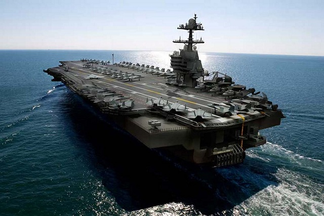 USS Gerald R Ford CVN 78 class aircraft carrier US Navy 3