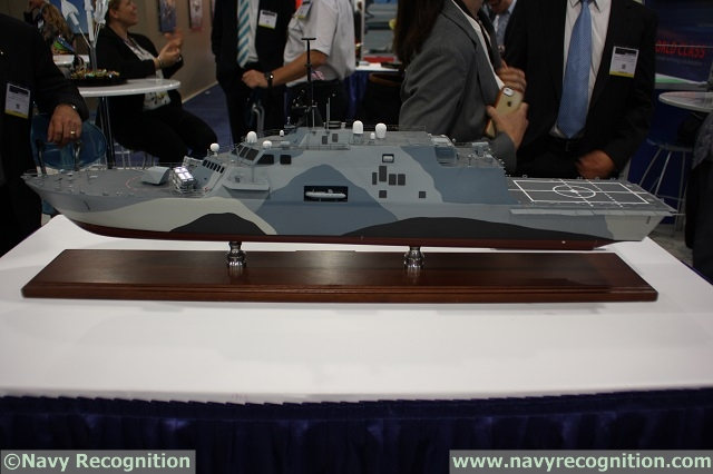 "At the Navy League's 2015 Sea-Air-Space Exposition which was held last week near Washington DC, Kongsberg was showcasing some new Freedom class and Independence class LCS models fitted with eight Naval Strike Missiles (NSM) each. These two models illustrate Kongsberg's ""Bolt On"" solution to the US Navy new need of an Over The Horizon (OTH) Anti-Ship Missile (ASM) for the LCS/Frigate Surface Warfare Mission Package."