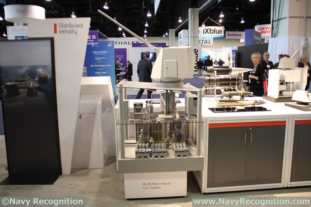 At the Navy League's Sea-Air-Space 2016 exposition currently held near Washington D.C., BAE Systems is showcasing for the first time a scale model representative of the new fully automated 5 Inch Mark 45 main gun loading system to be fitted on the Royal Navy's Type 26 Frigates.