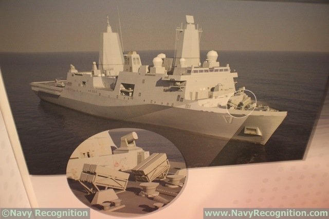 LPD 17 class amphibious vessel image fitted with 8x NSM as seen on Kongsberg's booth during SNA 2016.