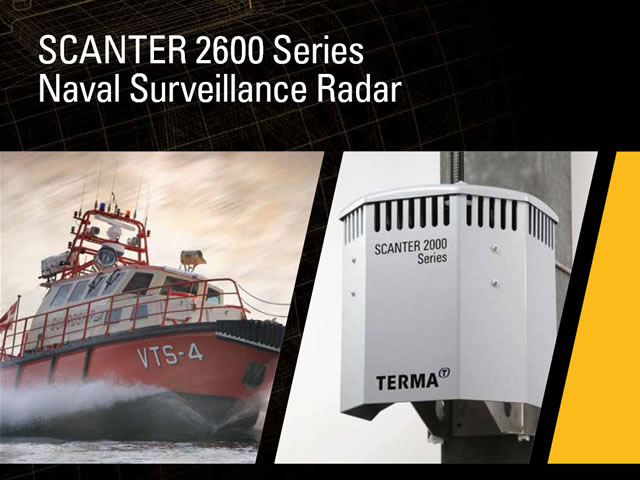 Terma will introduce their latest naval surveillance radar product, the SCANTER 2600, at the Surface Navy Association's (SNA) National Symposium in Arlington, VA on 12-14 January 2016.