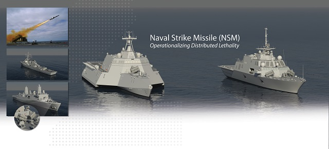 NSM anti ship missile on LCS