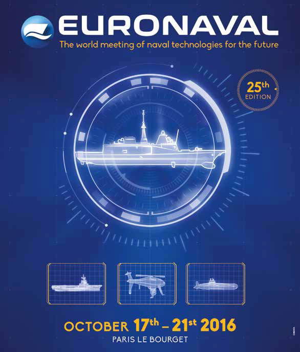 The 25th edition of Euronaval will be held at the Paris Le Bourget exhibition center from 17 to 21 October 2016. Euronaval is the leading Naval Defence & Maritime Exhibition & Conference. Meet the organizers of Euronaval 2016 during PACIFIC 2015 in Sydney, Australia.