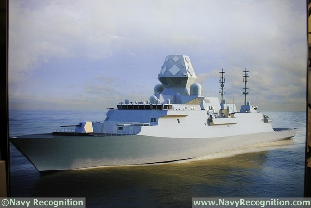 The Type 26 is the future Anti-Submarine Warfare Frigate that will replace the Royal Navy's 13 Type 23 frigates and other ships. BAE Systems says the Type 26 / Global Combat Ship will be a highly capable and versatile multi-mission warship designed to support anti-submarine warfare, air defence and general purpose operations anywhere on the world's oceans. Navy Recognition could not meet a BAE representative who could talk about the SEA5000 GCS but we understand that it would be fitted with Mk41 cells exclusively (no CAMM which are present on the UK design) as well as a BAE Systems Mk 45 5 inch main gun.