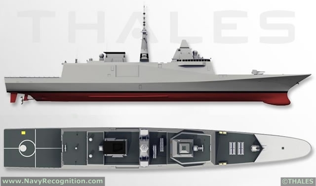 Aquitaine class FREMM is a class of multipurpose frigates designed by French shipbuilder DCNS. France plans to operate eleven FREMM frigates which will be the backbone of the French Navy (Marine Nationale). Designed for AAW, ASW and ASUW roles, these true multirole vessels are also capable of carrying out deep strikes against land targets. Morocco also ordered one Frigate of this class, the vessel to be named Mohammed VI is set to become the flagship of the Royal Moroccan Navy.