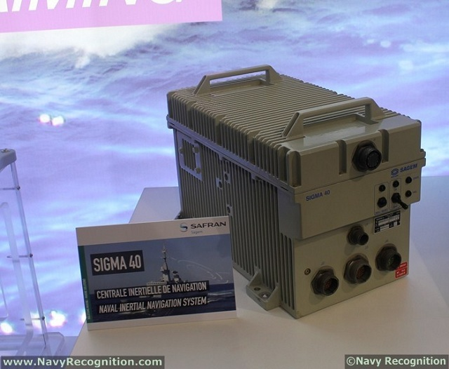 The SIGMA 40 shipborne inertial navigation system built by Sagem (Safran group) has passed the mark of 8 million hours of operation in service, demonstrating exceptional reliability as shown by feedback from many of the world's navies.