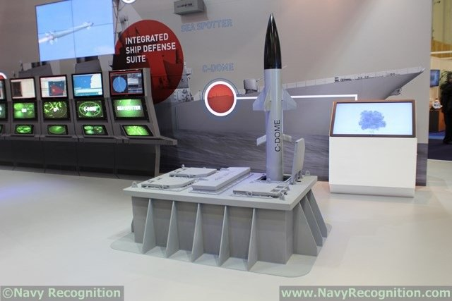 Israeli manufacturer Rafael chose to showcase for the first time the C-DOME Naval Point Defense System at the largest naval exhibition in the world: Euronaval 2014, which is held from 27 to 31 October in Paris