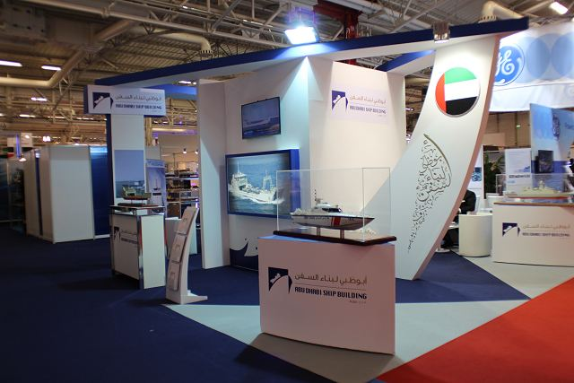 Abu Dhabi Ship Building, ADSB, of United Arab Emirates is to participate in the Euronaval Exhibition held from October 27 to 31 in Paris, France. ADSB specialize in the construction of highly complex naval ships including the integration of weapon combat systems. These vessels are primarily designed for littoral warfare defence operations against air and surface threats as well as patrol tasks, coast guard, law enforcement, electronic search missions, fishery and EEZ protection.