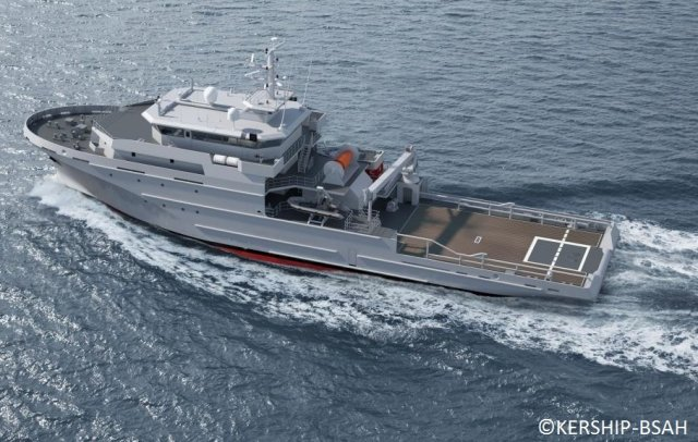 Kership Launched the 1st Offshore Support and Assistance Vessel BSAH Loire for the French Navy