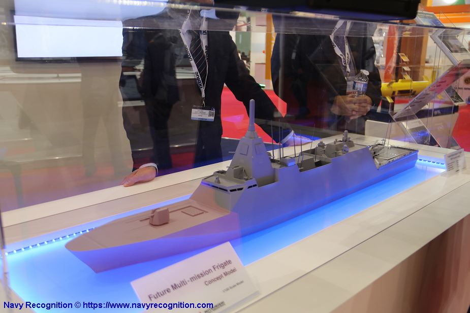Mitsubishi from Japan new concept of Future Multi Mission Frigate Euronaval 2018 925 001