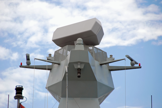 SMART-S Mk2, the newest Thales Naval 3D multibeam radar, is optimized for medium-to-long range air and surface surveillance and target designation. This state-of-the-art radar is an excellent performer in complex littoral environments with their mix of sea, land, rain, thunderstorms and targets such as multiple small surface ships, helicopters and anti-ship missiles.