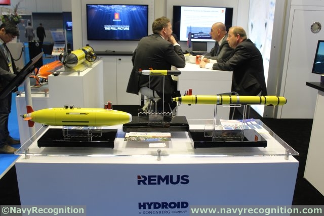 KONGSBERG is showcasing REMUS AUVs family during UDT 2015
