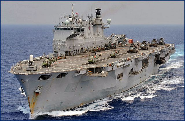 HMS Ocean helicopter carrier British Royal Navy