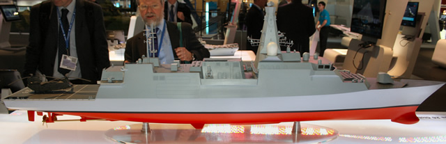 "Designed by BAE Systems, the Type 26 is the future Anti-Submarine Warfare Frigate that will replace the Royal Navy's 13 Type 23 frigates and other ships. The programme has been in development since 1998, initially under the designation ""Future Surface Combatant (FSC)"". The FSC concept was brought forward in the 2008 budget, at the expense of two Type 45 destroyers being cancelled."