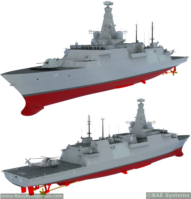 BAE Systems has released a video showing an updated design for its Type 26 Frigate.