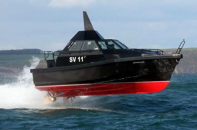 'Barracuda' is a new high speed Interceptor / Patrol craft for military and law enforcement applications, designed and built by Safehaven Marine.