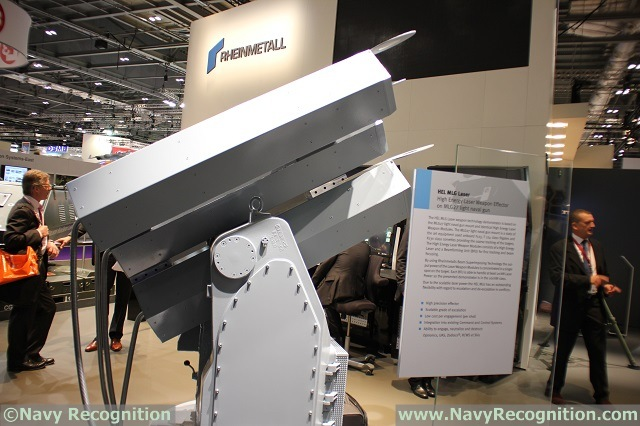 "Highly precise, scalable in effect, versatile in tactical situations, ready for deployment at sea - high energy laser effectors will play a major role in future armament concepts. Building on a 125-year heritage, Rheinmetall has once again made good its claim to be the global leader in high-energy laser (HEL) technology. The group is ""hel-lighting"" its role at DSEI 2015. On show is a newly developed powerful HEL effector for naval applications based on the MLG 27 light naval machine gun system."
