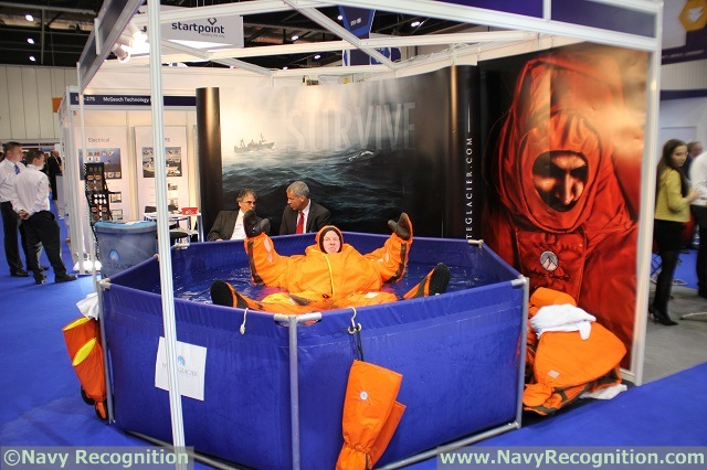 White Glacier is showcasing the revolutionary Arctic 25 hypothermia protective immersion suit at DSEI 2015. The Arctic 25 hypothermia protective suit is breaking tradition and setting new standards when it comes to maritime safety and hypothermia protection. Through a patented combination of non-neoprene cutting edge materials, the Arctic 25 protects survivors from freezing temperatures, dangerously cold water, frigid arctic wind, and the effects of hypothermia for over 25 hours without the need for constant manual adjustment or inflation.