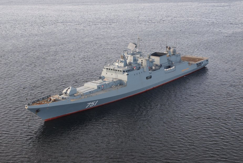 Russian frigate Admiral Grigorovich joins forces in the