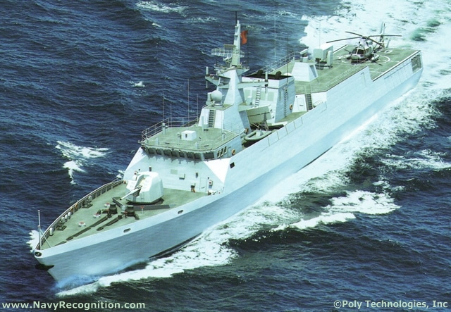 Designed and built by Chinese shipyard CSSC (China State Shipbuilding Corporation) the Type 056 Corvette (Jiangdao class) combines a stealth design with modern weapon systems and sensors. Designed to replace the older Jianghu class frigates and Type 037 patrol vessels, Type 056 Corvettes are set to become the backbone of the PLA Navy with more than 20 vessels reported to be currently on order.