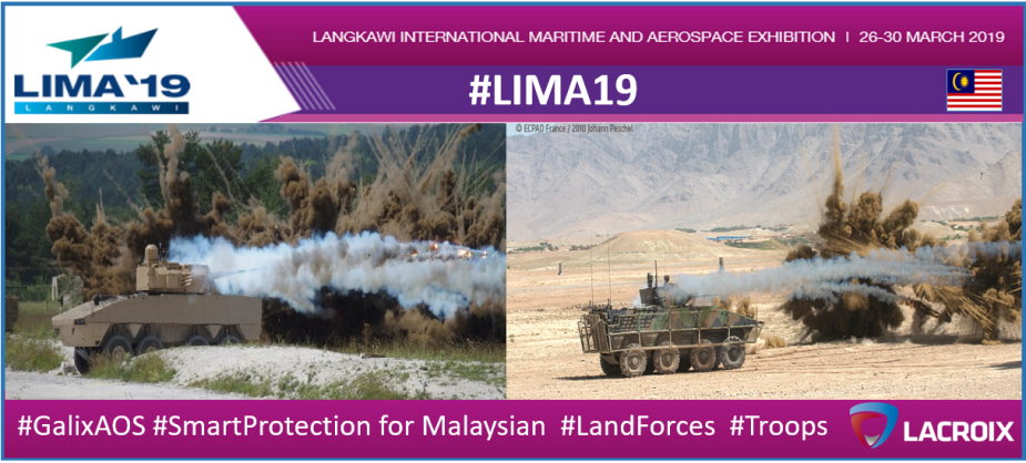 LIMA 2019 Lacroix displays its wide range of defense products 3