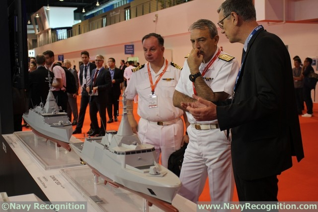 DCNS Showcasing the Bellhara Next Gen Frigate and Mistral LHD at IMDEX Asia 2017