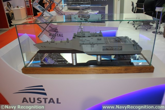 Austal is also featuring its LCS based Frigate design at IMDEX