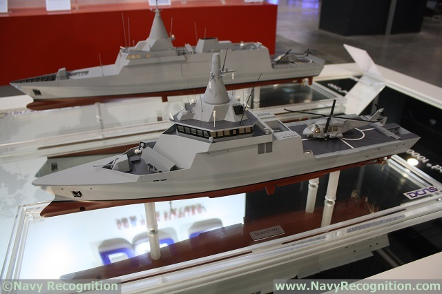 At BALT MILITARY EXPO 2014 which was be held in Poland from 24 to 26 June 2014, DCNS unveiled a new member in its Gowind range: The Gowind 1000. According to DCNS it is a new fast and reconfigurable naval asset, ready to face 21st challenges: A high speed vessel capable of fast intervention against emerging threats, with a significant autonomy for deployment from littoral to deep ocean environments in time of crisis.