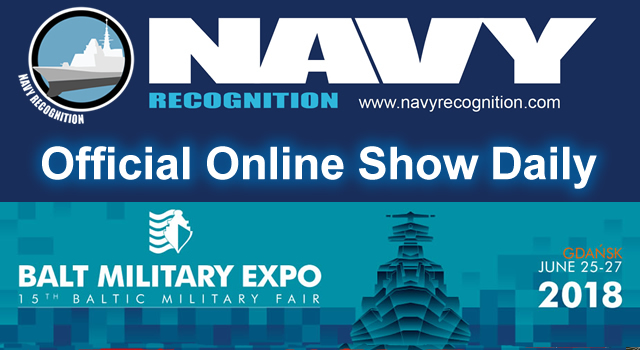 Balt Military Expo 2018 Baltic Military Fair Naval Exhibition AMBEREXPO Gdansk Poland show daily banner