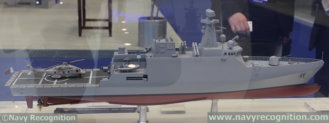 Spanish shipbuilding company Navantia showcased its AVANTE 1800 corvette during DIMDEX 2014, the Doha International Maritime Defence Exhibition & Conference which was held between 25 – 27 March 2014 in Qatar.