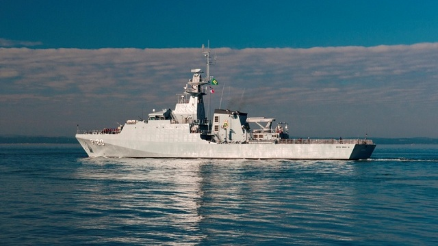 Amazonas, the first of three BAE Systems built Ocean Patrol Vessels being delivered the Brazilian Navy, departed the UK for Rio de Janeiro on August 9th after her crew completed a rigorous programme of Flag Officer Sea Training with the Royal Navy off the South coast.