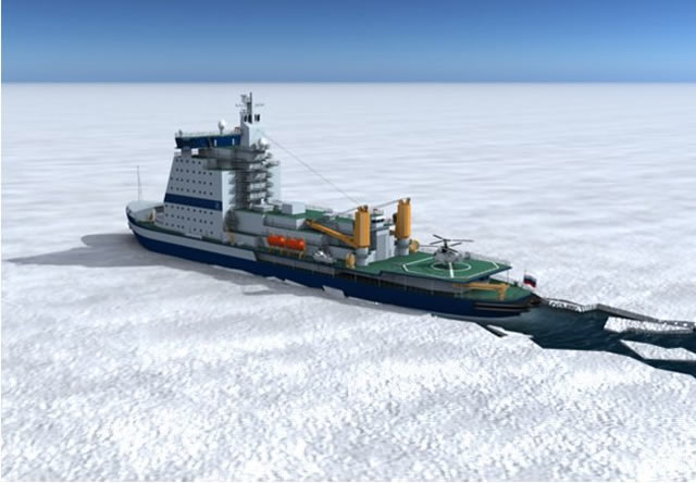 "On May 27, 2014 the Russian State Atomic Energy Corporation ""Rosatom"" has signed a contract with Baltiysky Zavod JSC (shipyard based in St Petersburg) to build two Project 22220 nuclear powered icebreakers. The value of the contract amounts to 84.4 billion rubles. Under the terms of the contract the vessels are to be delivered in December 2019 and December 2020 respectively."