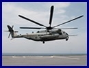 "Off the coast of Djibouti, a Sikorsky CH-53 ""Sea Stallion"" from United States Marine Corps (USMC) Marine Heavy Helicopter Squadron 461 (HMH-461) conducted several approaches and landings on the Dixmude, French Navy's newest LHD."