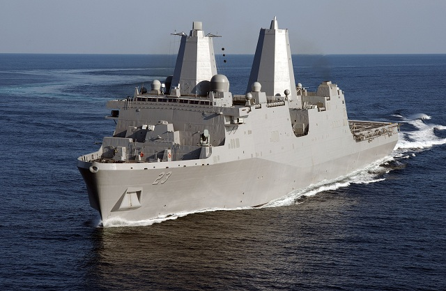 On Monday Huntington Ingalls Industries began construction on the amphibious transport dock LPD 27. The ship, being built at the company's Ingalls Shipbuilding division, is the 11th ship in the USS San Antonio (LPD 17) class of ships.