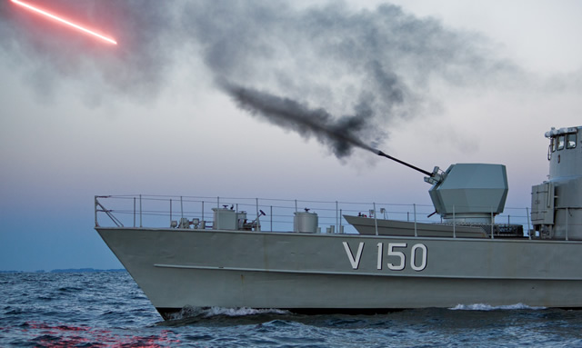 BAE Systems has successfully conducted the first ship-borne live fire testing of its future Bofors 40 Mk4 4-mm single-barrel naval gun system. The sea trials took place in Sweden with the gun mounted on an older Swedish Navy picket ship.