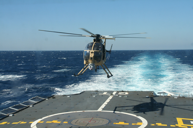 The French Defense Procurement Agency (DGA, Direction générale de l'armement) has recently conducted successful sea trials of D2AD (Démonstration technologique d'un système d'Appontage et d'Atterrissage pour Drones), an automatic takeoff and landing system for rotary wing UAVs. D2AD is a demonstrator, designed and built by DCNS and Thales who were awarded the contract in late 2008.
