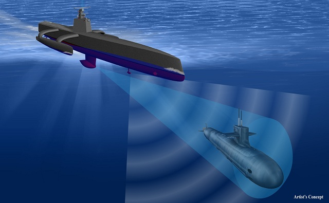 Raytheon Company was awarded a sub-contract from Science Applications International Corporation (SAIC) to deliver its first 5th generation medium frequency hull mounted sonar system as part of the Defense Advanced Research Projects Agency (DARPA) Anti-Submarine Warfare Continuous Trail Unmanned Vessel (ACTUV) program.