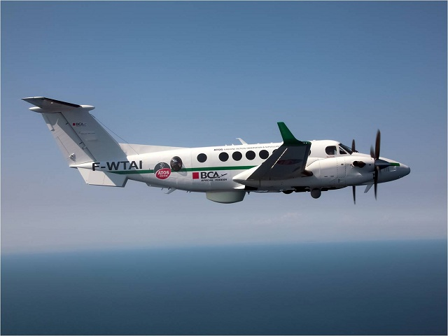 After more than 80 hours of flight testing, Selex ES, a Finmeccanica company, have handed over to Corporate Aircraft SA, exclusive distributor of Beechcraft, purc hasing as prime contractor for an undisclosed end-user a Beechcraft King Air 350ER equipped with the company's Airborne Tactical Observation and Surveillance (ATOS) system. The end user has expressed their satisfaction with the system performance demonstra ted during the flight tests.